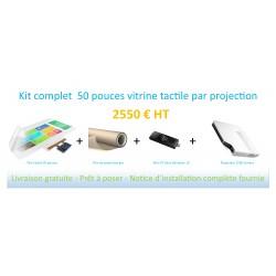 Pack Vitrine tactile 50 pouces
