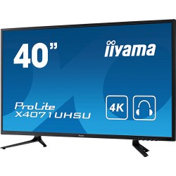 "Moniteur MVA LED 40"" 4K VGA/ HDMI/DP HP 5000:1"