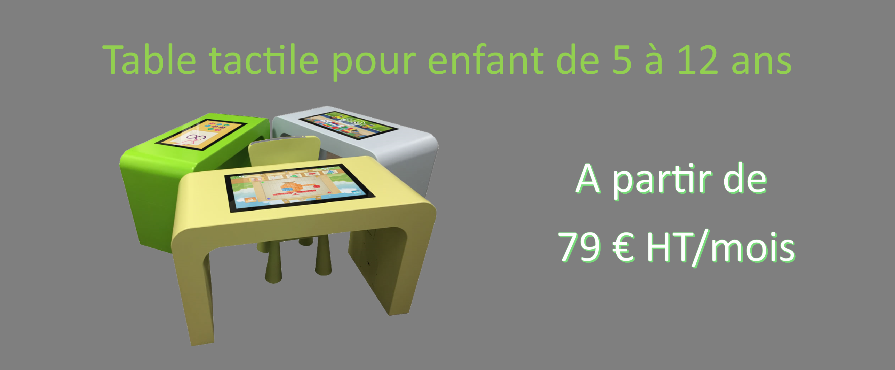 Table tactile enfants